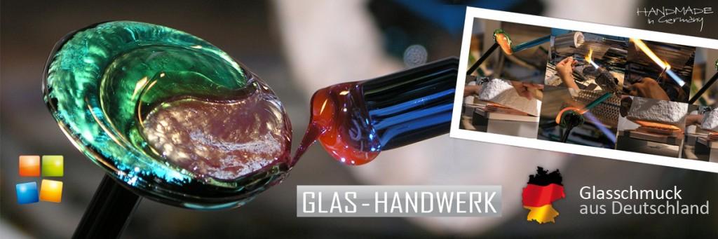 Glasschmuck Herstellung und Einblick in die Produktion