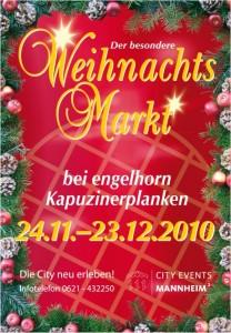 Weihnachtsmarkt in Mannheim zu Weihnachten