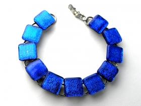 Glasschmuck Armkette Blau