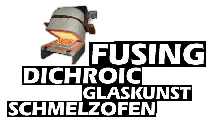 Fusingschmuck mit Dichroic Glas im Schmelzofen hergestellt