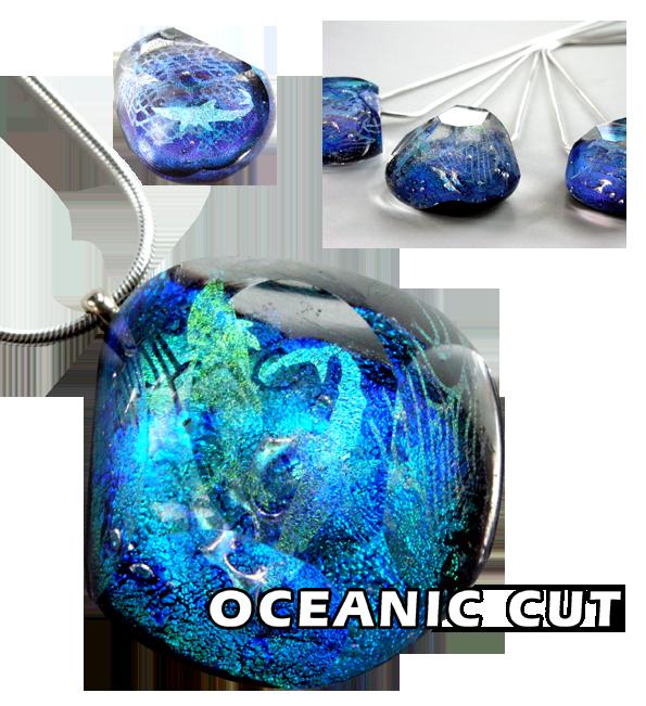 Schmuck aus Glas Oceanic Cut