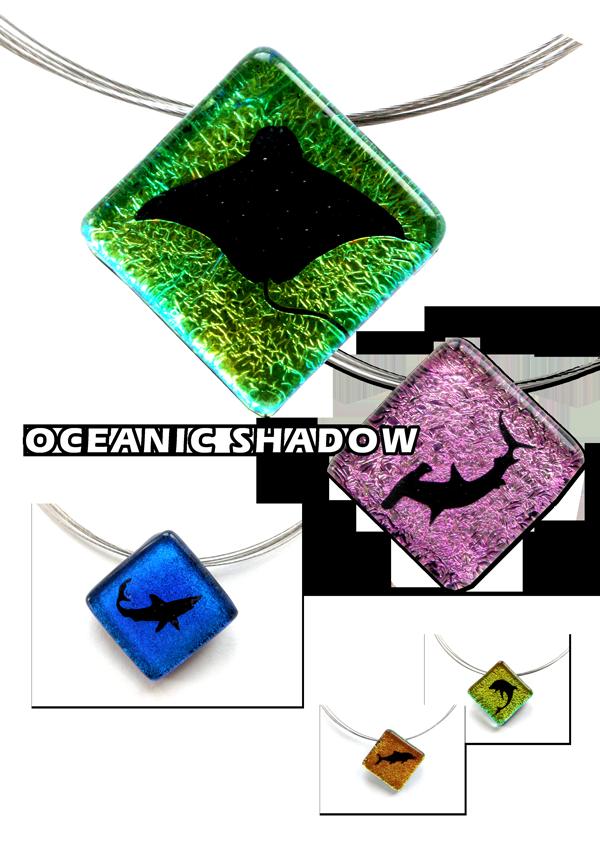 Ozean Schatten Glaskunst